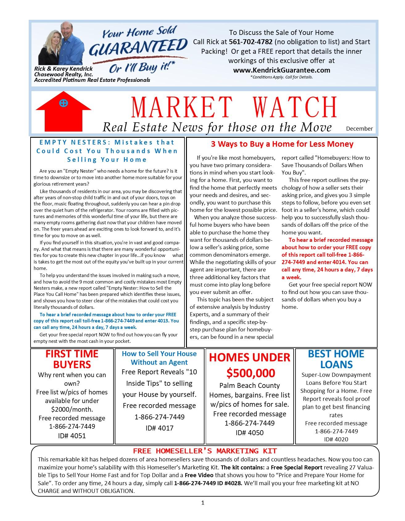 MarketWatch Newsletter
