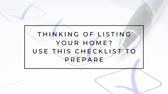 Check Off These Items Before You List Your Home