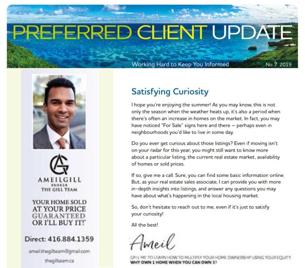 July - Preferred Client Update, Working Hard to Keep You Informed
