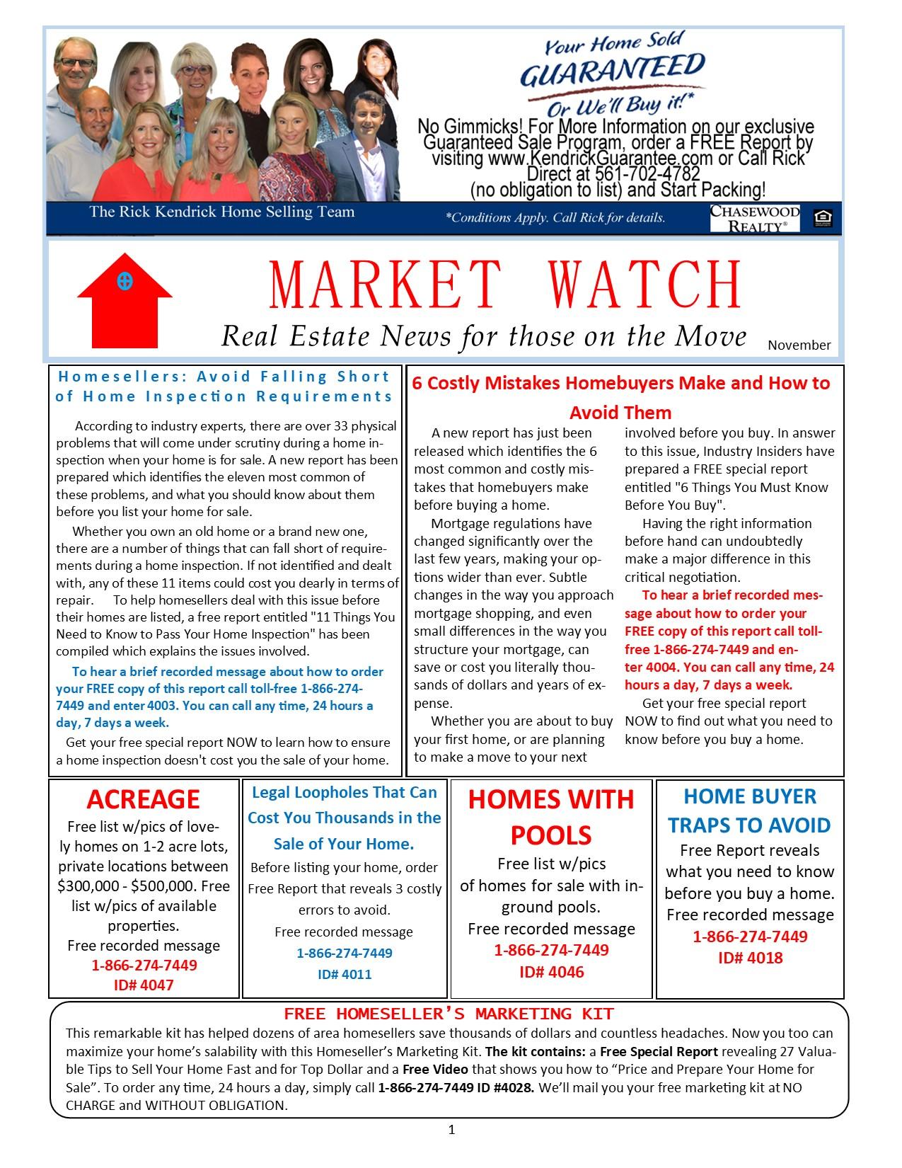 MarketWatch Newsletter November 2020