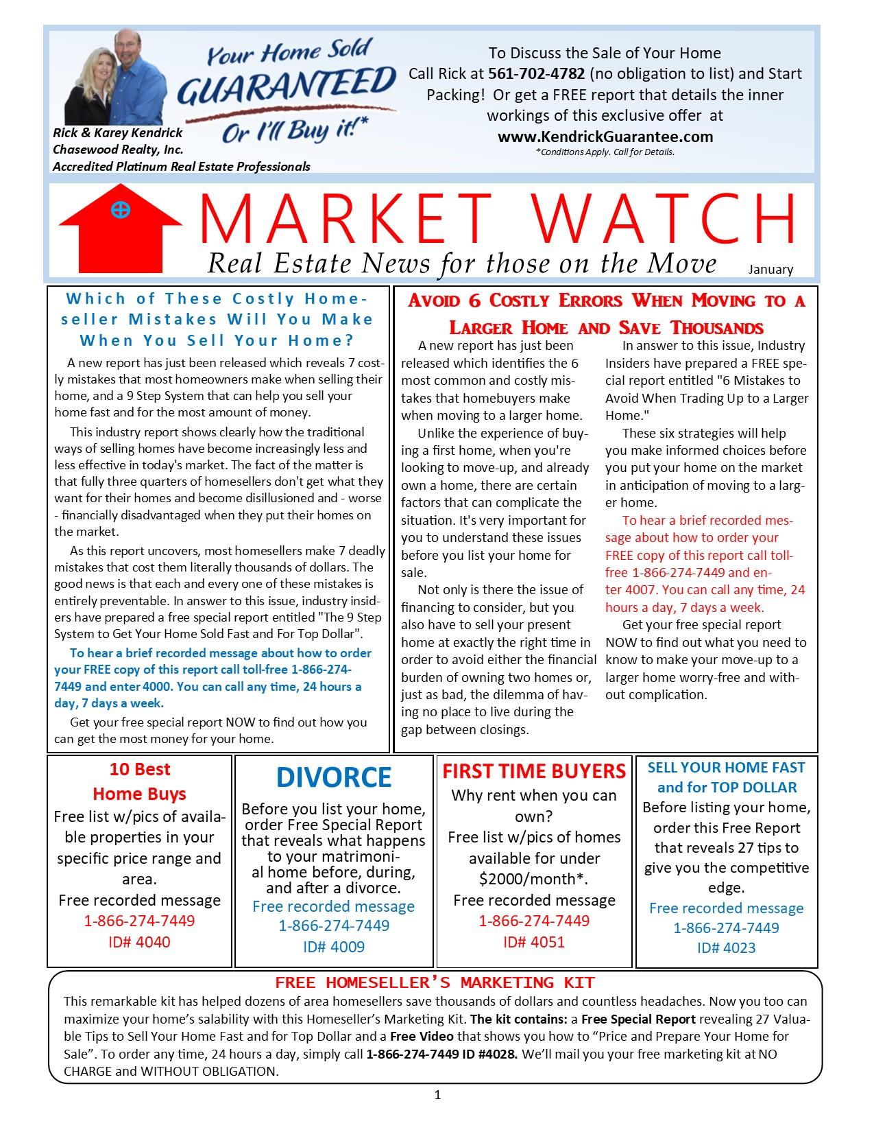 MarketWatch Newsletter - January