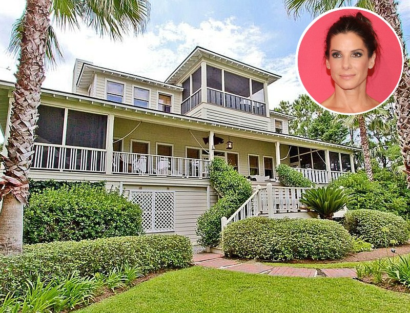 Sandra Bullock's Beach House on Tybee Island in Georgia
