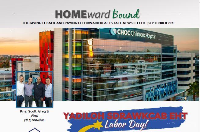 HOMEWARD BOUND SEPTEMBER 2021