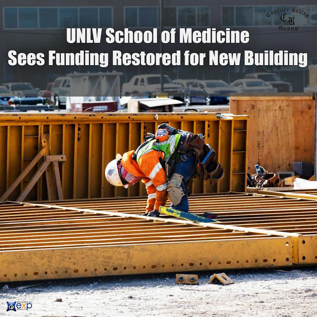 UNLV School of Medicine Sees Funding Restored for New Building