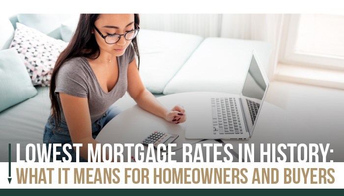 Lowest Mortgage Rates in History; What it means for buyers and sellers.
