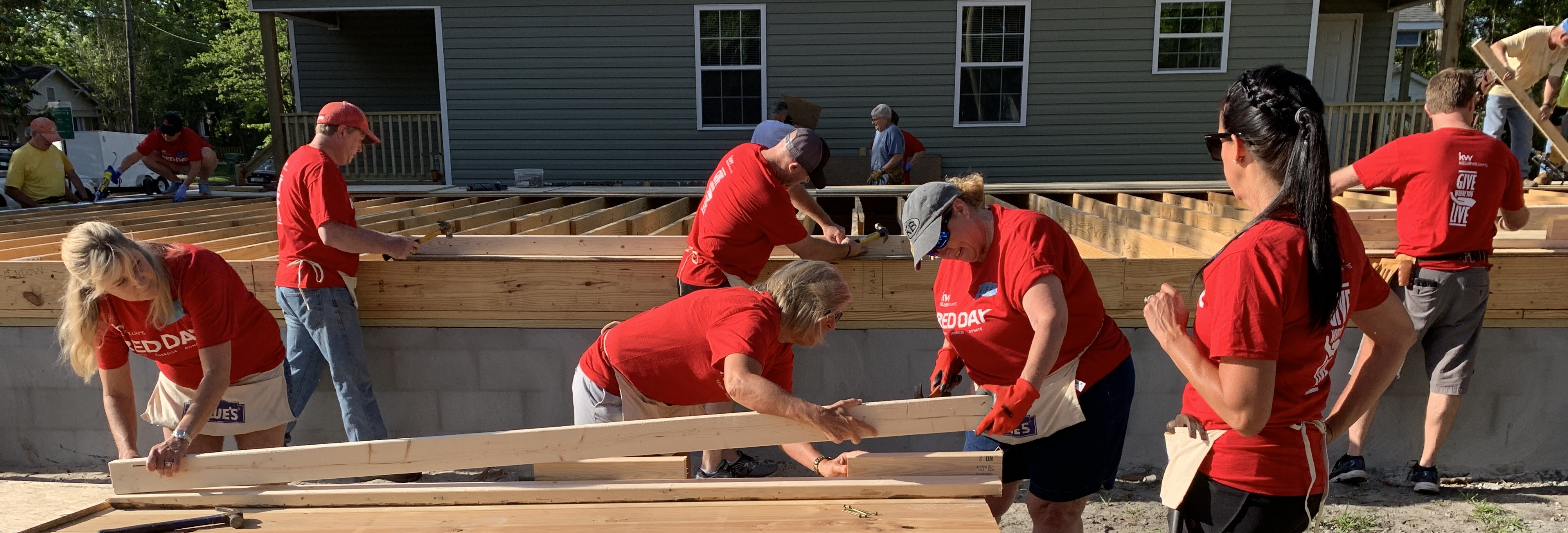 Swinging Hammers for RED Day with Cape Fear Habitat for Humanity