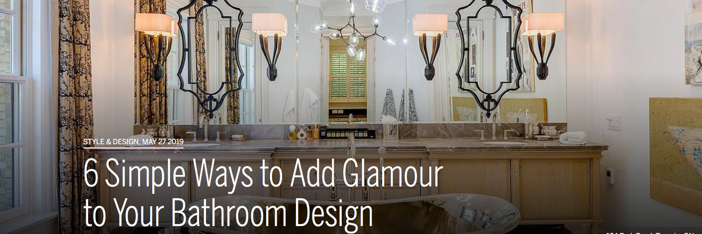 6 Simple Ways to add Glamour to your Bathroom Design