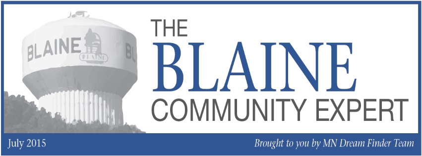 Blaine Community Expert August 2015 - MN Dream Finders