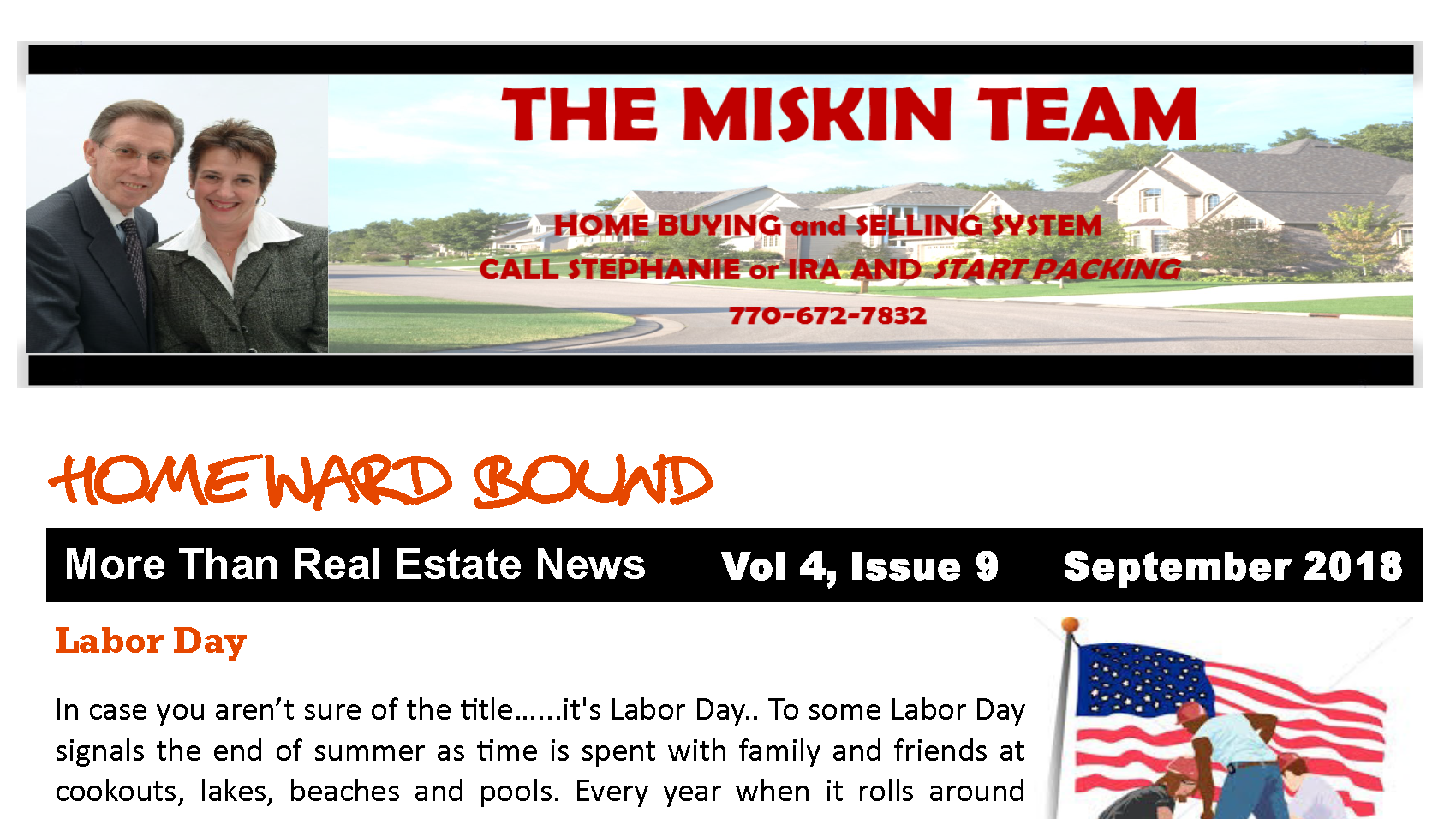 Home'Ward Bound Monthly Miskin Team Newsletter September 2018