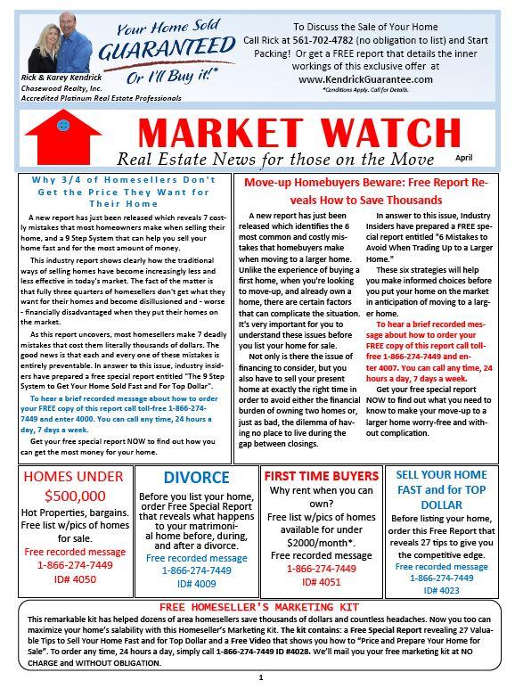 April MarketWatch Newsletter