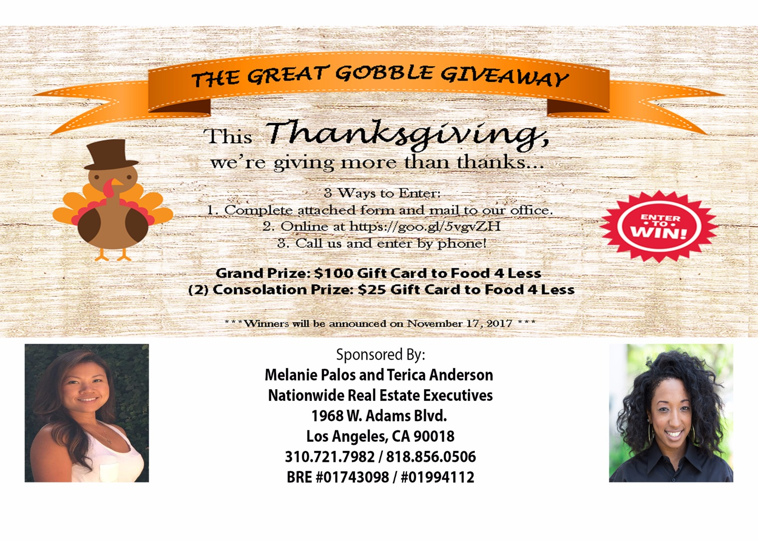 The Great Gobble Giveaway | View Greater Los Angeles Area Homes