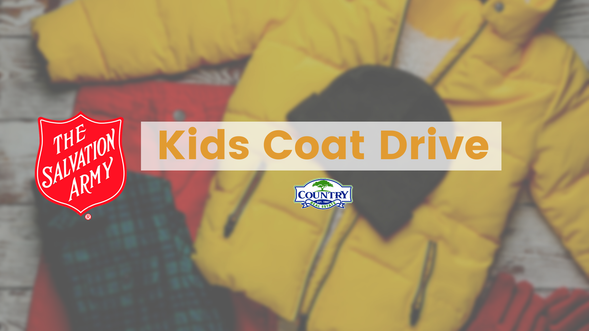 Donate to Salvation Army's Kids Coat Drive