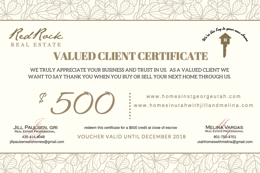 We love our Buyers and Sellers so much we want to reward them!