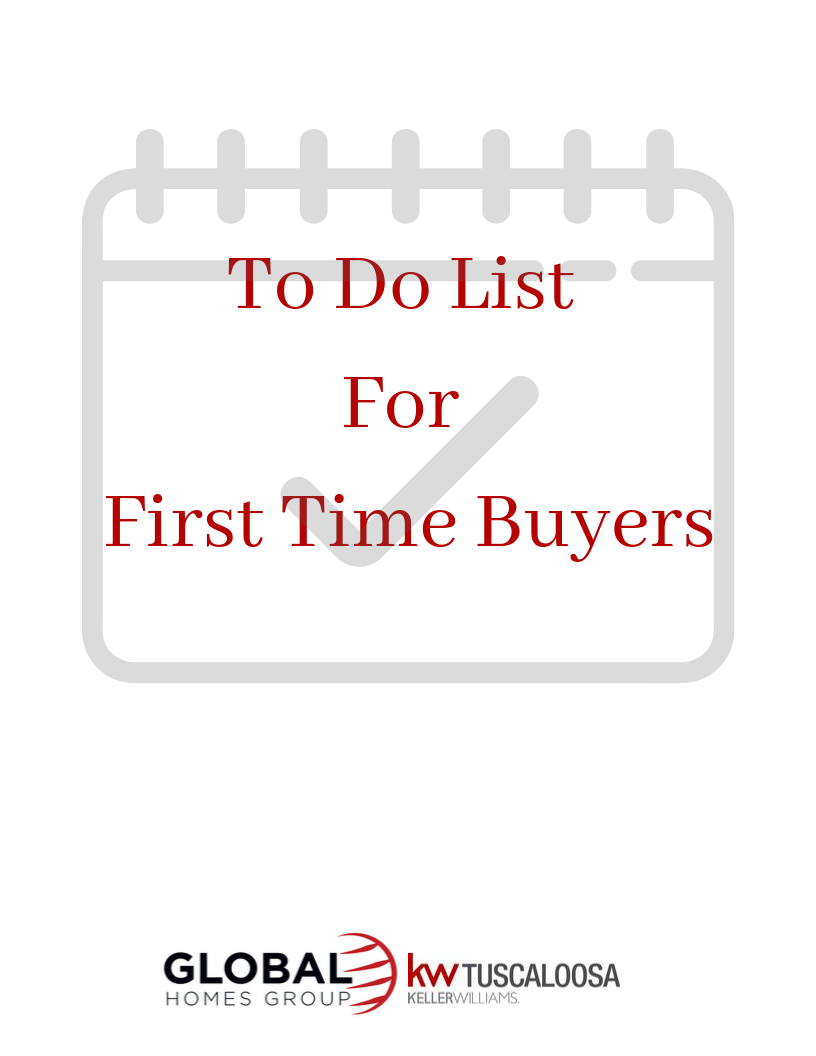 To Do List For First Time Home Buyers