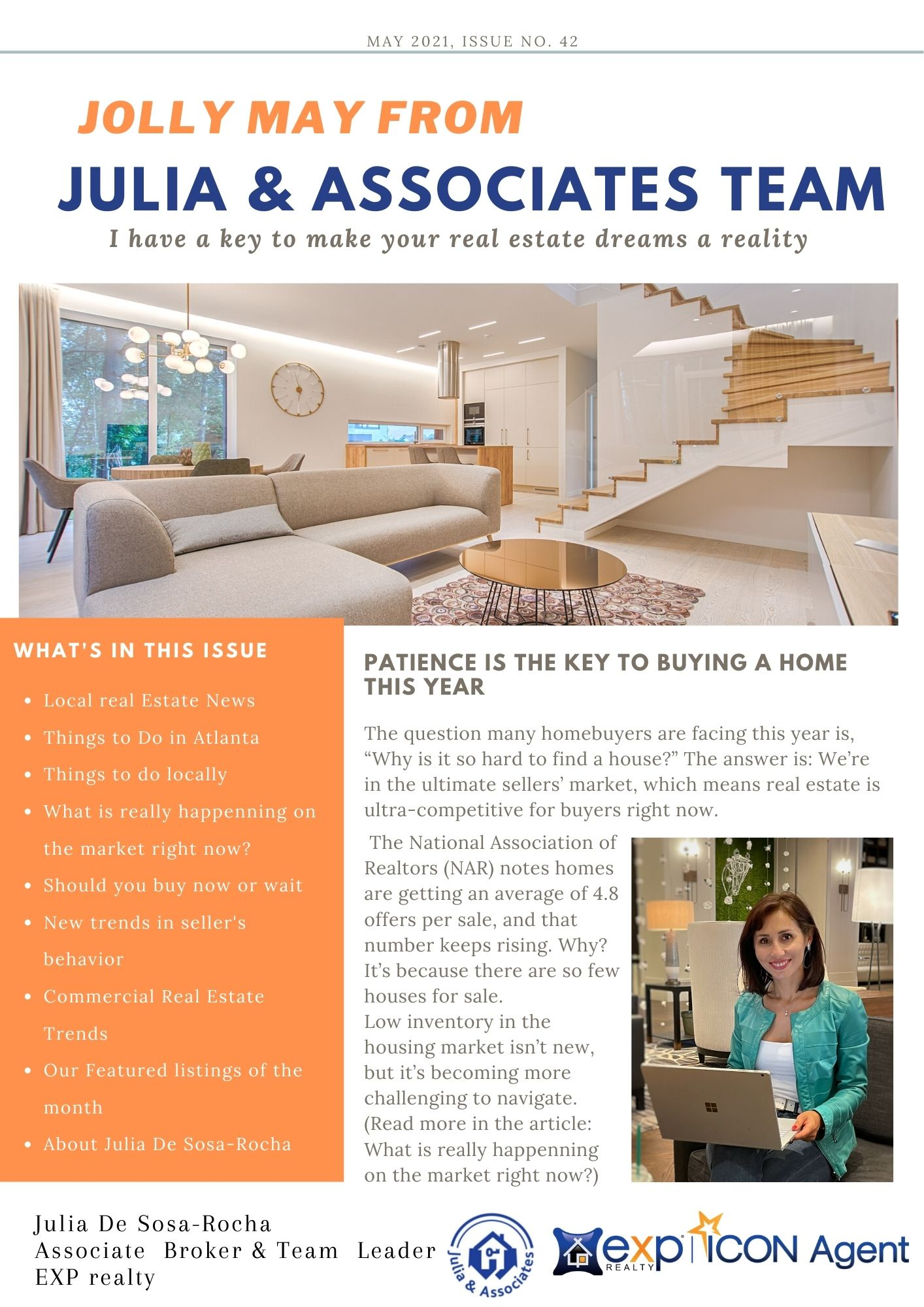 May 2021 Market Report from Julia and Associates Team