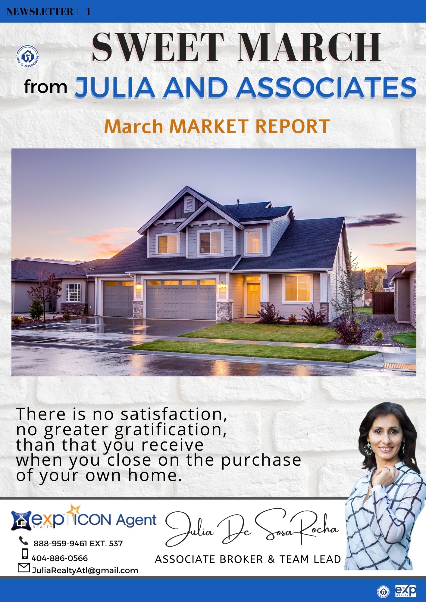 March 2021 Market Report from Julia and Associates Team