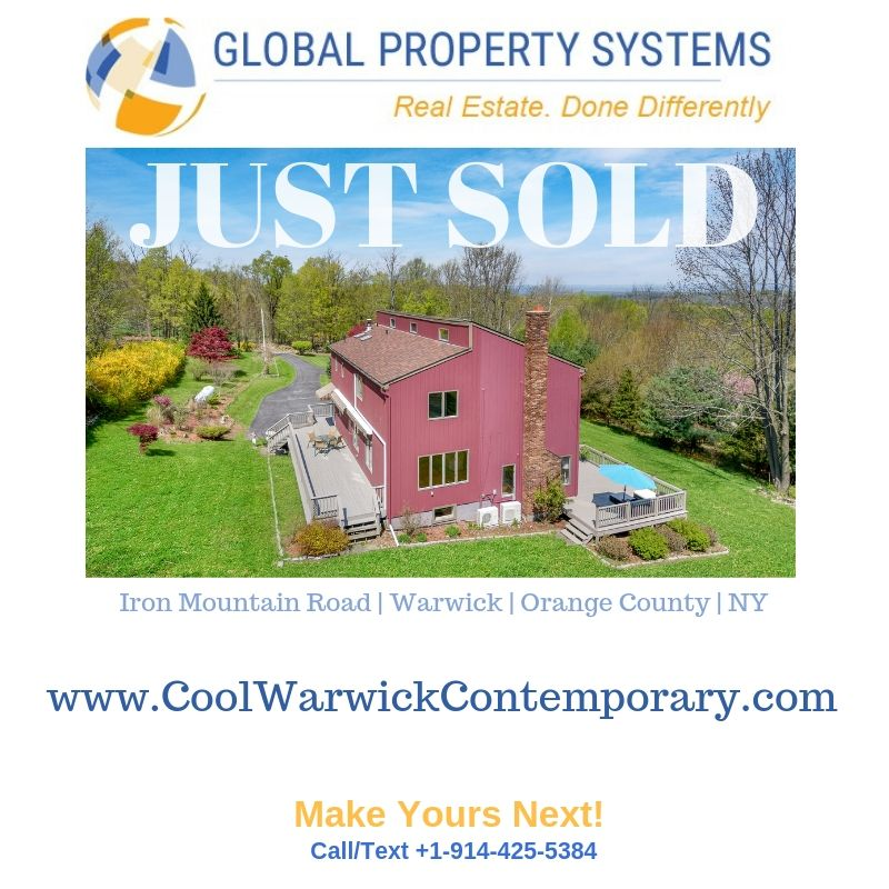 SOLD | 81 IRON MOUNTAIN RD, WARWICK NY  |  CONTEMPORARY WITH STUNNING MOUNTAIN VIEWS
