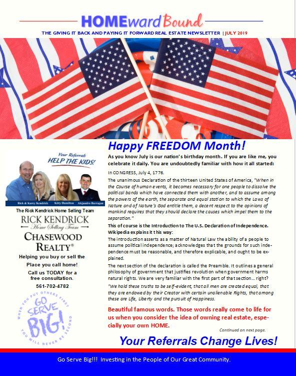 Rick Kendrick Team Home Ward Bound Newsletter