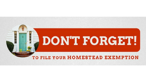 Filing for Your Homestead Exemption