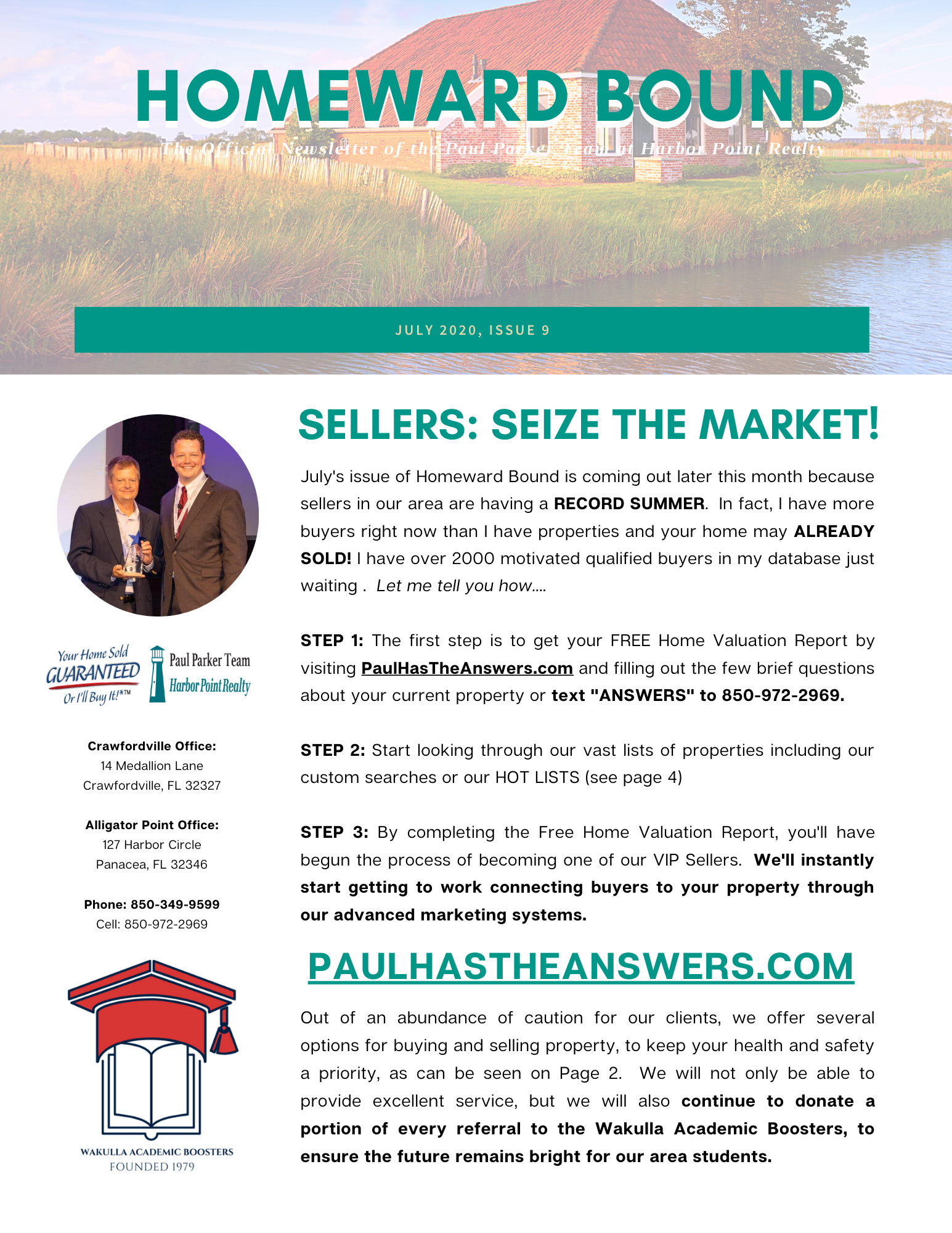 July Homeward Bound Newsletter