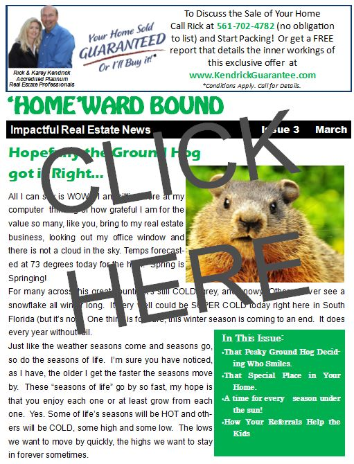 March HomeWard Bound Rick Kendrick Real Estate Newsletter