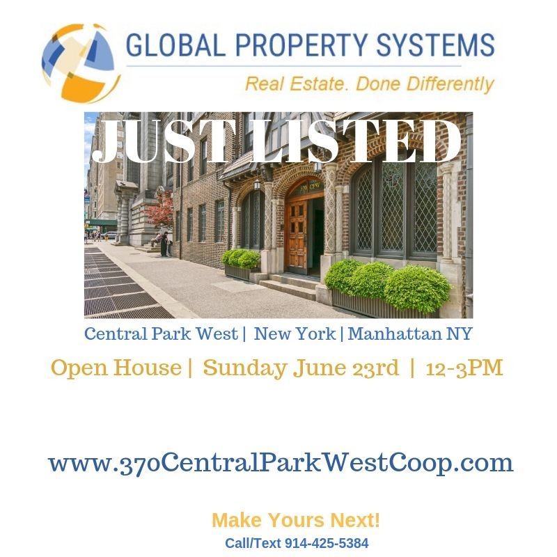 JUST LISTED | 370 CENTRAL PARK WEST, #311, NEW YORK NY 10025 | GREAT VALUE ON CENTRAL PARK WEST!